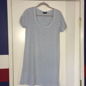 Blue t-shirt dress